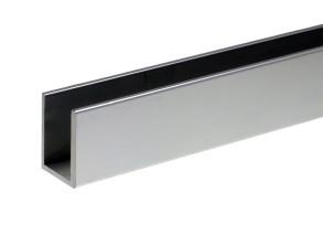 SP1-2-3 Canalina in alluminio, finitura brill