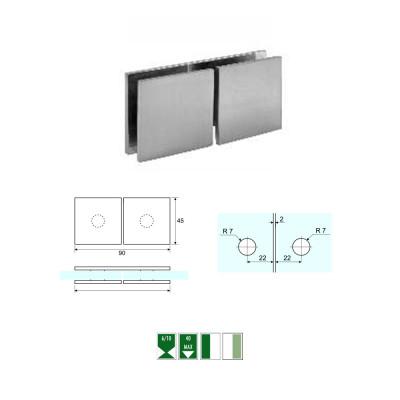 GC-4 Morsetto angolare vetro/vetro 90°