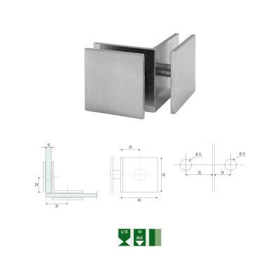GC-3 Glass to glass 90° angular clamp