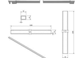 KB-5 Barra di sicurezza 90° vetro/muro