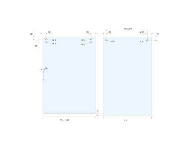 Schema vetri nicchia VV con istruzioni