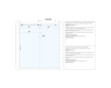 Schema vetri nicchia con istruzioni