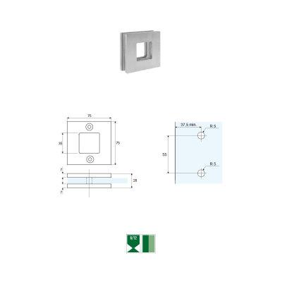 SRH-1 Maniglia quadrata per porte scorrevoli
