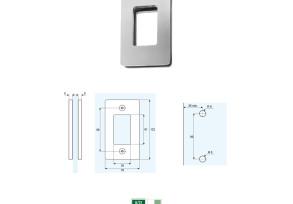 SRH-3 Maniglia rettangolare per porte scorrevoli