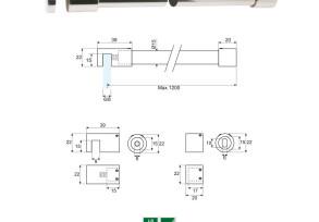 SSB-7 Barra di sicurezza 90° vetro/muro